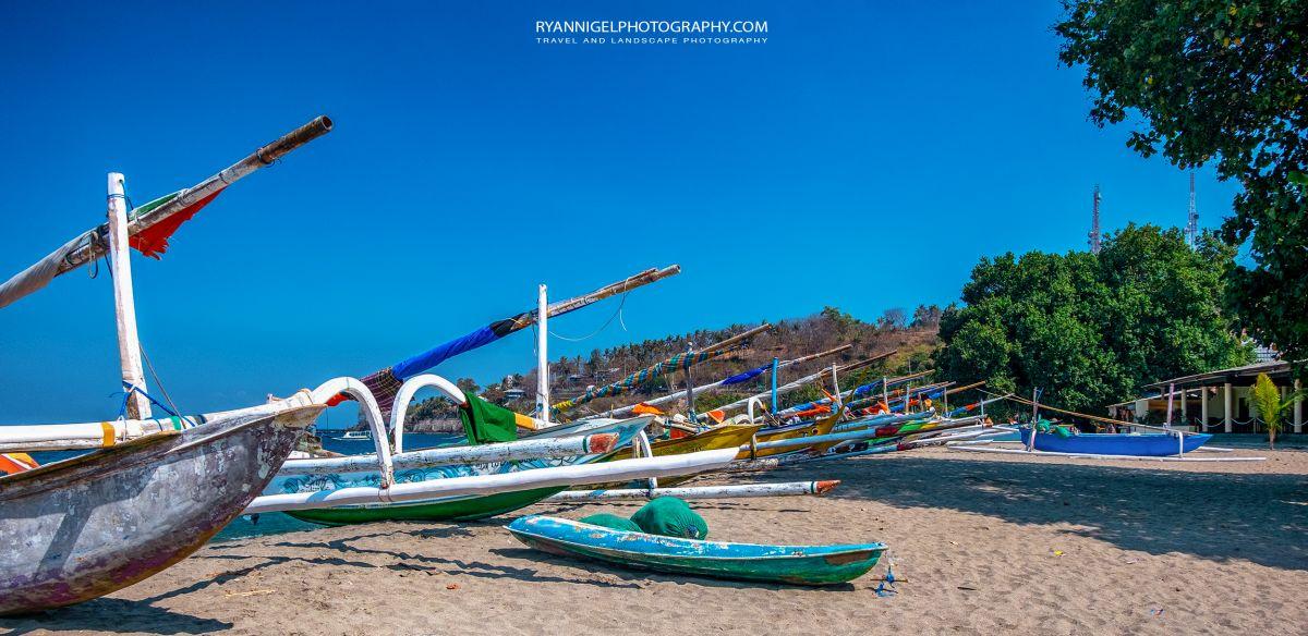 Triggerboats on Senggigi Beach West Lombok