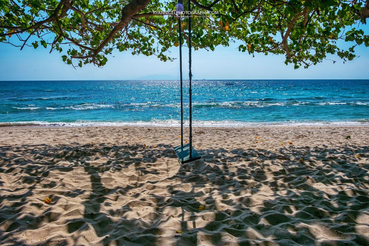 Sunset Beach Swing at Nipa Beach West Lombok