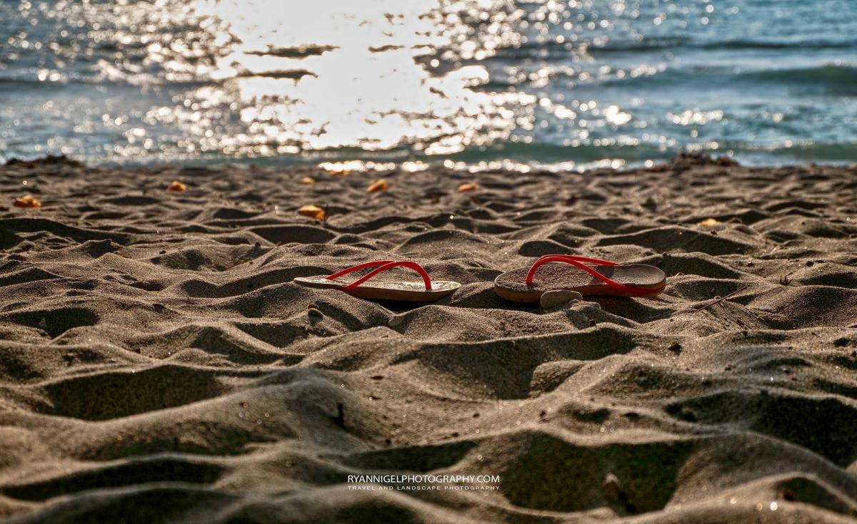 Slippers :) at Nipa Beach West Lombok