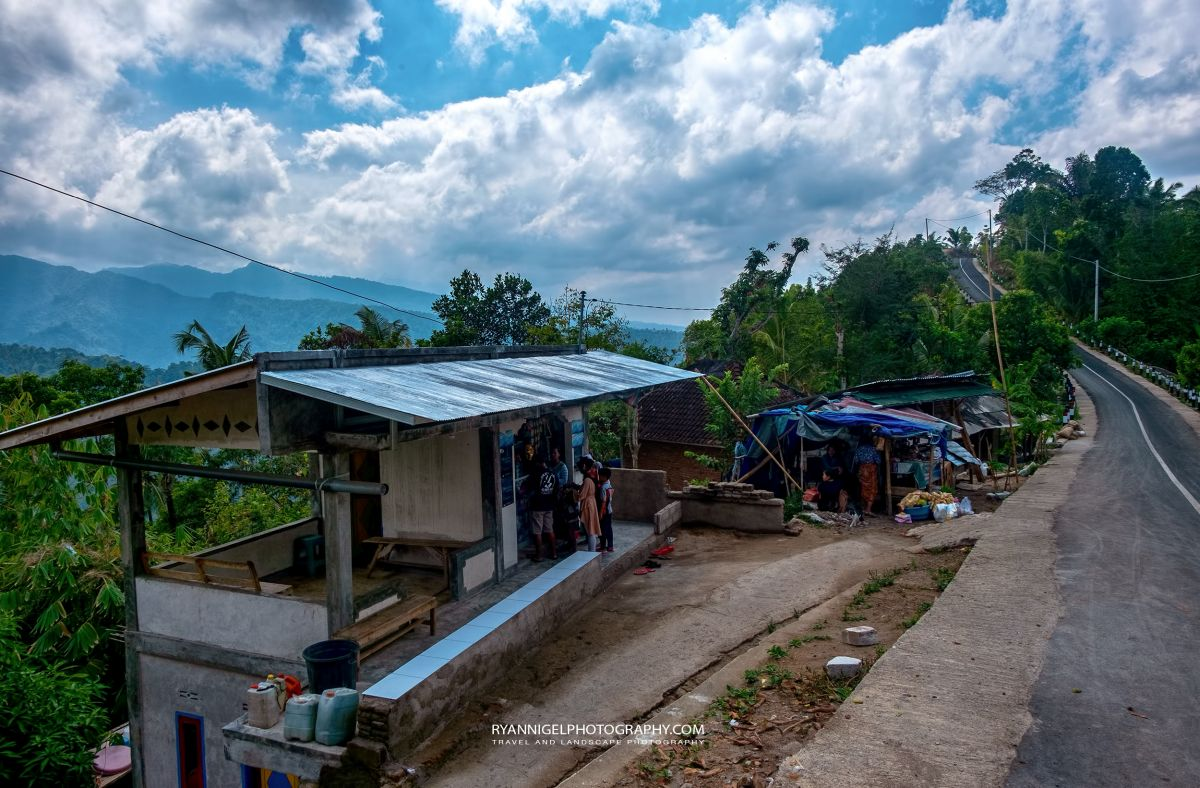 Views from the mountains  at Batu Layar West Lombok
