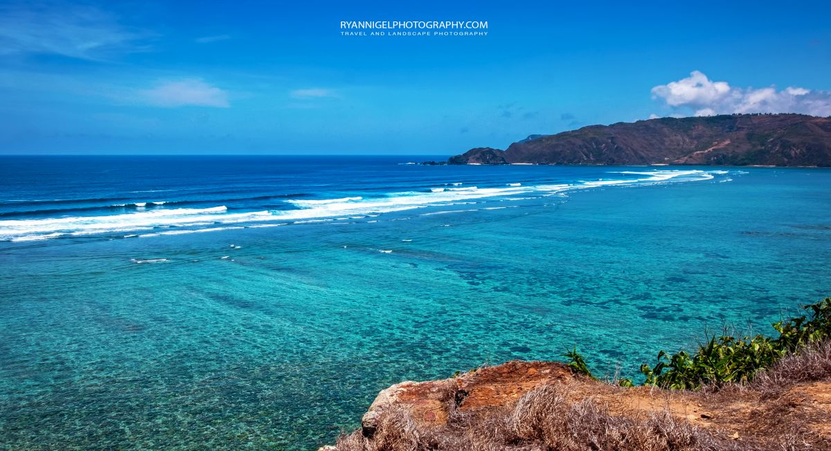 At the end of Mandalika Beach, Koeta South Lombok