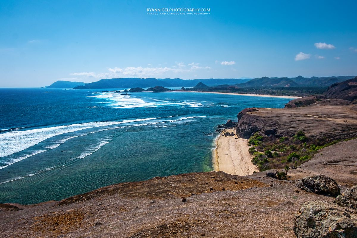 View on Mandalika Beach Koeta South Lombok