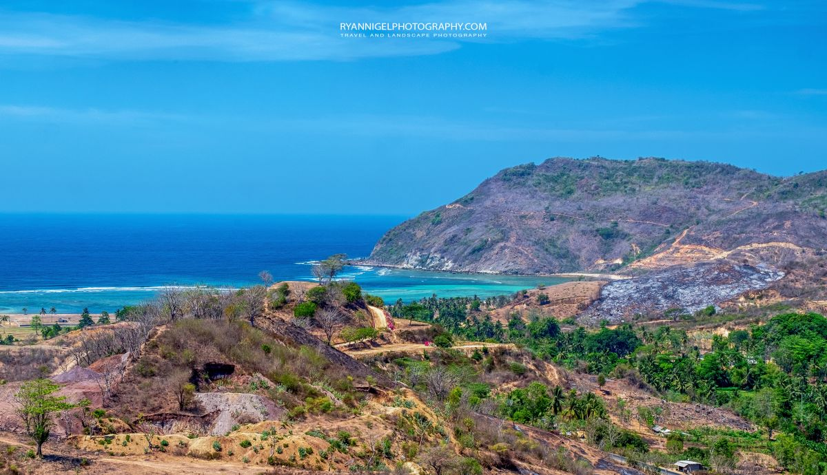 View on Areguling Beach Koeta South Lombok