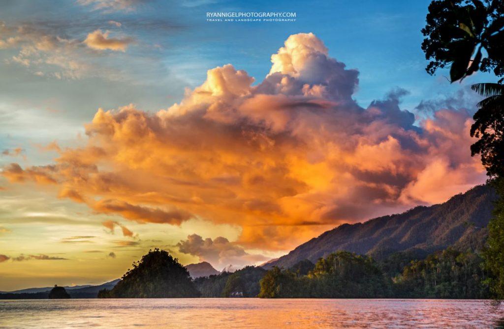 sunset waigeo island raja ampat